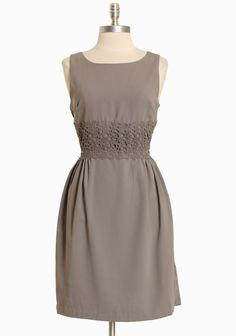 Maggie Dress In Dove Gray By Darling UK