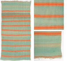 Pistachio Orange Stripe - another lovely rug from Irving and Morrison