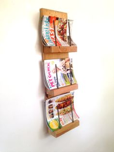 Reclaimed Wood Magazine Rack Reclaimed Wood by ReclaimedPA. Magazine wall shelf. #reclaimedwood