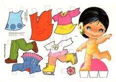 The Paper Dolls of Laura: Recortes Cristina muñeca 9 Sweet Memories, Childhood Memories, Paper Toys, Paper Crafts, Paper Puppets, Vintage Paper Dolls, All Paper, Book Images, Bjd Dolls