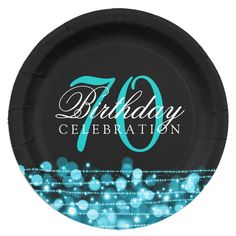 Shop Elegant Birthday Party Sparkles Rose Gold Paper Plate created by Personalize it with photos & text or purchase as is! 30th Birthday Party Themes, 30th Birthday Ideas For Women, Glitter Birthday Parties, Elegant Birthday Party, 21st Birthday, Diy 40th Birthday Decorations, 40th Party Ideas, Geek Birthday, Birthday Club