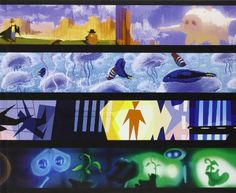"""The Art of Pixar: The Complete Colorscripts and Select Art From 25 Years of Animation / Amid Amidi. Collects colorscripts and art from Pixar films and shorts, including """"Cars,"""" """"Toy Story,"""" and """"Jack-Jack Attack. Storyboard Examples, Color Script, Toy Story 3, Animation Tutorial, This Is A Book, Visual Development, 25th Anniversary, Book Crafts, Medium Art"""
