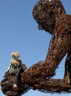 Artist: Karen Cusolito - Scrap metal sculpture