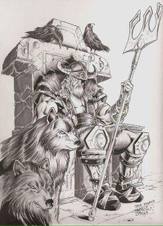 Yggdrasil Tattoo, Tattoo Odin, Viking Symbols, Viking Art, Tatouage Lowrider, Frases Para Tattoo, Viking Drawings, Viking Warrior Tattoos, Odin Norse Mythology
