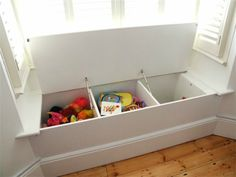 New Living Room Storage Ideas For Toys Window Benches Ideas Window Seat Storage, Living Room Toy Storage, Toy Storage, Storage, Bedroom Storage, Living Room Windows, Childrens Toy Storage, Living Room Storage, Bay Window Storage