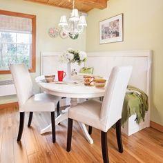 Judicieuse banquette pour la salle à manger - Salle à manger - Inspirations - Décoration et rénovation - Pratico Pratiques