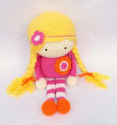 Crochet Doll Made to Order Any Color by TootyLou on Etsy, $60.00
