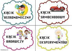 Kąciki tematyczne – mały rozmiar 1 Logo, Kindergarten, September, Clip Art, Bullet Journal, Classroom, How To Plan, Education, Class Room