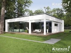 WeberHaus - Spacious and contemporary prefabricated bungalow with Bauhaus architecture