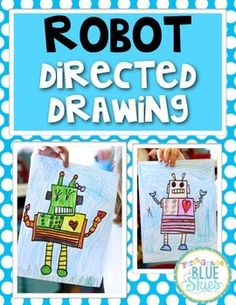 Direct Drawings are so fun for students!  This is just a quick set of instructions for guiding your class through a directed drawing of a robot for anytime of year.  Also included is a writing activity page to go along with the drawing.Another idea would be to leave the instructions in your writing or art station and have kids create them on their own.