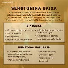A Serotonina/ Serotonin Psychology Studies, Health Psychology, Psychology Facts, Reiki, Vida Natural, School Motivation, Motivational Phrases, Neuroscience, Emotional Intelligence