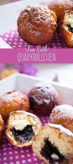 Unwiderstehliche low carb Quarkbällchen www.lowcarbkoestl... #glutenfrei #lowcarb #lchf