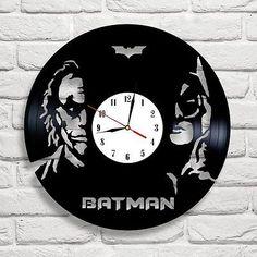 Batman vs Joker [ 8 ] design vinyl record clock art bedroom playroom office shop