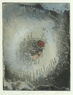Title: And with much to learn, 2011. Size: 40 x 35cm. Medium: Intaglio with hand colouring. Edition: 10. Printed by Basil Hall