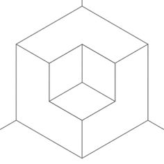 bigblueboo:  cubic subversion (line drawing) Illusion Gif, Animation, Gif Of The Day, English Paper Piecing, Sketch Design, Mural Art, Op Art, Fractal Art, Optical Illusions