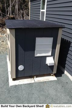 Fresh air exhaust using home powered gable vent. Generator exhaust on lower right. Electrical cord access on lower lef