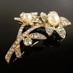 Prendedor Broche Mujer  Brillante Accesorio Elegante con Perlas y Murano Jewelry, Fashion, Stones And Crystals, Glow, Pearls, Shirts, Jewels, Elegant, Accessories
