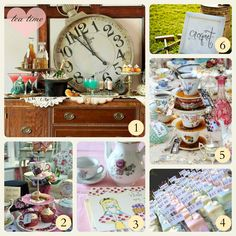 Alice in Wonderland Tea Party #tea #vintage #alice