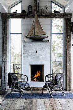 authentique #parquet devant la cheminée