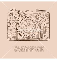Photo camera steampunk vector by piyacler on VectorStock®