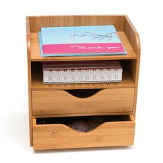 Bamboo 4 Tier Desk Organizer now featured on Fab.