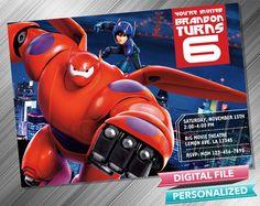 Big Hero 6 Invitation by kidspartydiy on Etsy https://www.etsy.com/listing/209703390/big-hero-6-invitation