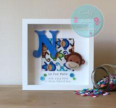 Cheeky Monkey Personalised Box Frame - Gift/Keepsake/Bedroom Decor/Nursery