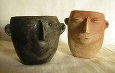 vasos cultura La candelaria Ceramic Spoons, Ceramic Decor, Ceramic Clay, Porcelain Ceramics, Sculpture Art, Sculptures, Face Mug, Head Planters, Virtual Museum