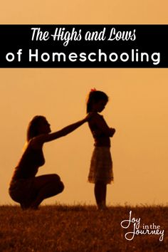 Through the years we have experienced many highs and lows of homeschooling. As homeschool moms we need to realize that with every high, there will be a low. There are seasons of homeschooling and sometimes we have to take the good with the bad.