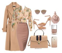 """""""Nude Everything"""" by jusstyleme on Polyvore featuring Joseph, Christian Louboutin, Gucci, Doublju, Kenzo, Christian Dior, Valentino, Rebecca Minkoff and Nails Inc."""