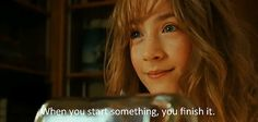 When you start something, you finish it. - Susie, The Lovely Bones The Lovely Bones Quotes, The Lovely Bones Movie, To The Bone Movie, Tv Show Quotes, Movie Quotes, Susie Salmon, Bone Books, Beautiful Film, Young Actors