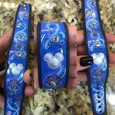 DIY decorated magic band! #frozen #magicband #blue #disneyworld #bluemagicband