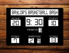 Items similar to Basketall Scoreboard Canvas.by Prints By Paula on Etsy Basketball Room, Basketball Birthday Parties, Basketball Scoreboard, Love And Basketball, Grad Parties, Free Basketball, Basketball Posters, Basketball Design, Basketball Funny