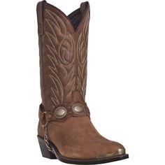 Laredo Mens Tan Leather Tallahassee Harness J Toe Cowboy Boots