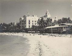 The Royal Hawaiian hotel on Waikiki Beach