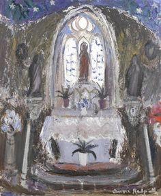 Anne Redpath - Church Interior Portugal, 1962, oil...