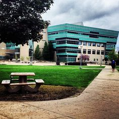 A seen from the North Campus Quad looking at FLITE.