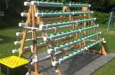 How To Grow 168 Plants In A 6 X 10 Space With A DIY A-Frame Hydroponic System