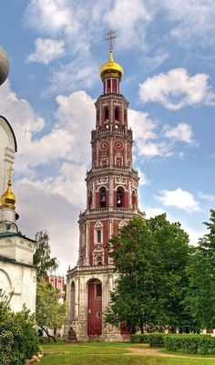 The Bell Tower of the Novodevichy Convent, #Moscow, #Russia.