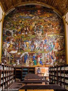 Library - Patzcuaro, Michoacan, MexicoMural de Juan O´Gorman