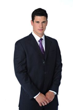 """The ultimate """"what do I do with my hands?"""" picture of sidney crosby."""