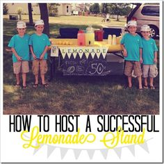 10 Tips for Hosting a Successful Lemonade Stand