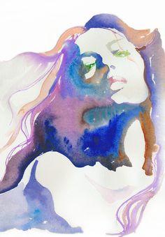 """Saatchi Online Artist: Cate Parr; Watercolor, 2010, Painting """"Magique"""""""