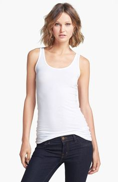 Splendid Scoop Neck Stretch Tank available at #Nordstrom $48.00