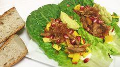 Pulled pork taco Pulled Pork Tacos, Chorizo, Guacamole, Chili, Mango, Ethnic Recipes, Food, Cilantro, Alternative