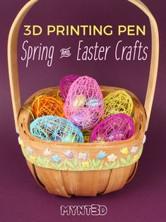 3D Pen Spring Chick and Easter Crafts | 3D printing pen FREE template DIY kids crafts for Spring Easter holiday | How to make a chick with a MYNT3D printing pen tutorial #3dprinterkids #3dprintingdiy