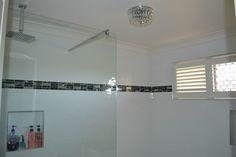 Renovation of the year 2013 ~Black & White Bathroom Black White Bathrooms, Track Lighting, Ceiling Lights, Black And White, Home Decor, Decoration Home, Black N White, Room Decor, Black White