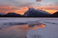 Vermilion Lake are a series of lakes located immediately west of Banff, Alberta, in the Canadian Rocky Mountains
