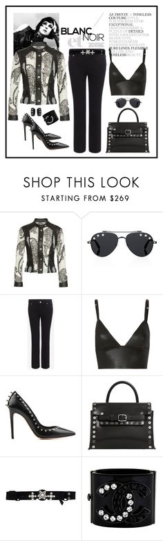 """""""Yigal Azrouel Lace & Leather Moto Jacket"""" by romaboots-1 ❤ liked on Polyvore featuring Ciao Bella, Yigal AzrouÃ«l, SAM., Givenchy, Alexander McQueen, T By Alexander Wang, Alexander Wang, Lanvin and West Coast Jewelry"""