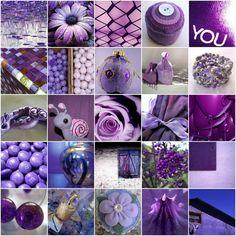 Mosaïque de photos violettes